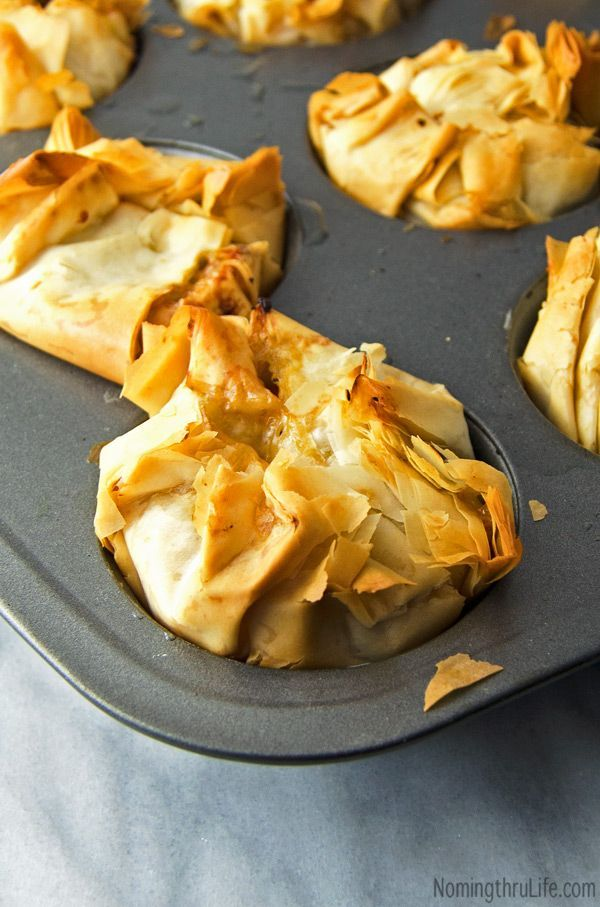 Roasted Vegetable Phyllo Bundles - Flaky phyllo filled with perfectly roasted veggies (vegan). Recipe @ NomingthruLife.com