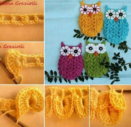Owl Crocodile Crochet Stitch Free Pattern