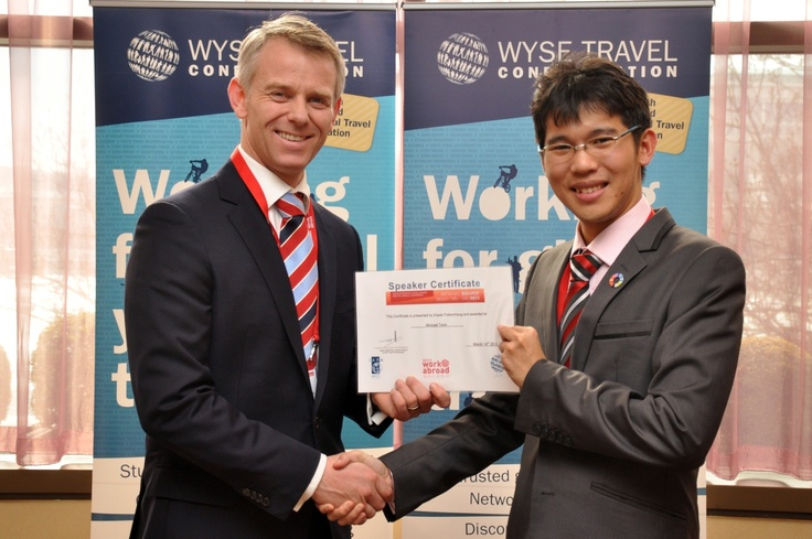 WETM-IAC 2012as held during 14th - 16th March in Budapest! WYSE Travel Confederation Director General Espen gave a speaker certificate to Michael Teoh, youth advocate!