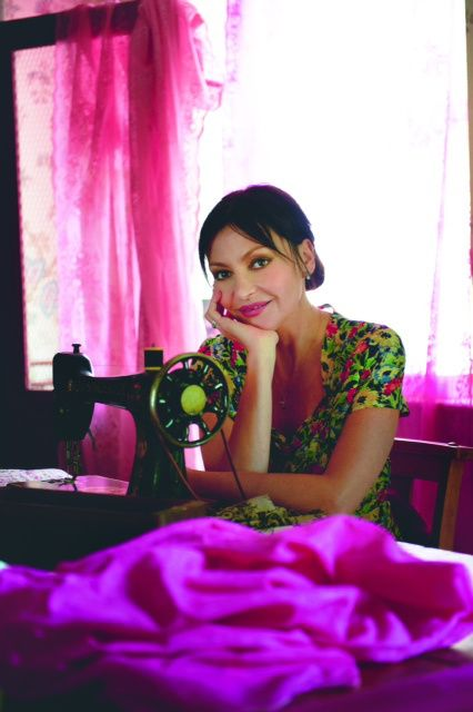 Saw Pearl Lowe on a show - love her brightly dyed curtains. What a great idea!