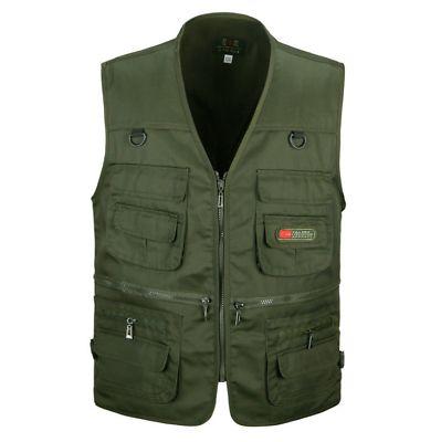 NEW Men's Multi Pocket Camera Outdoor Vest Travelers Photography Vest jacket