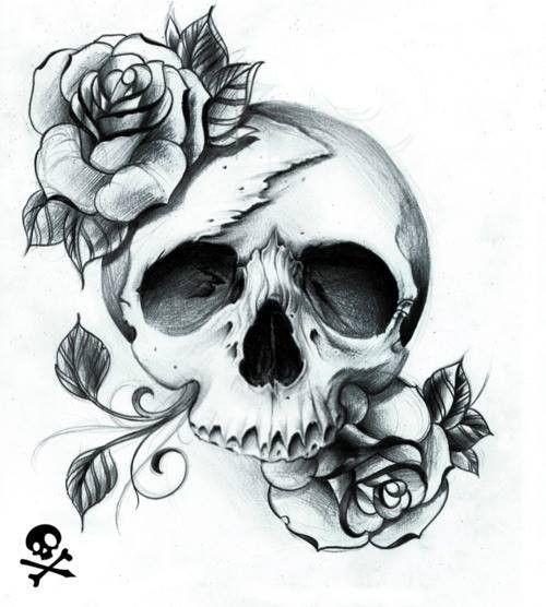 17 meilleures id es propos de mod le de tatouage de t te - Modele de tete de mort ...