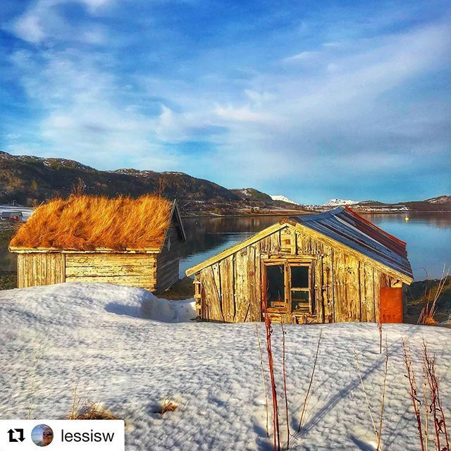 #Repost @lessisw with @get_repost  Old Boathouses in Low Sun Its sad to grow Old but nice to Ripen (Brigitte Bardot) Loc; Vestnes    #reiseliv #reisetips