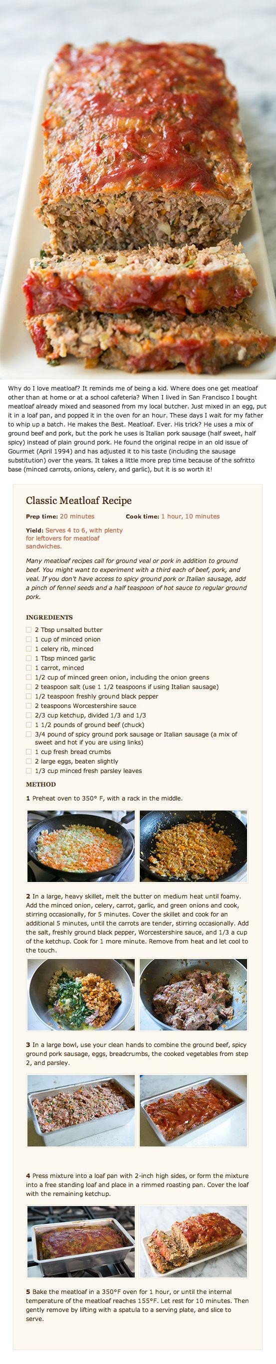 Classic Meatloaf Recipe #meatloaf #recipe