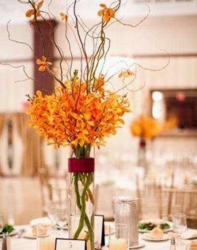Best ideas about orange wedding centerpieces on