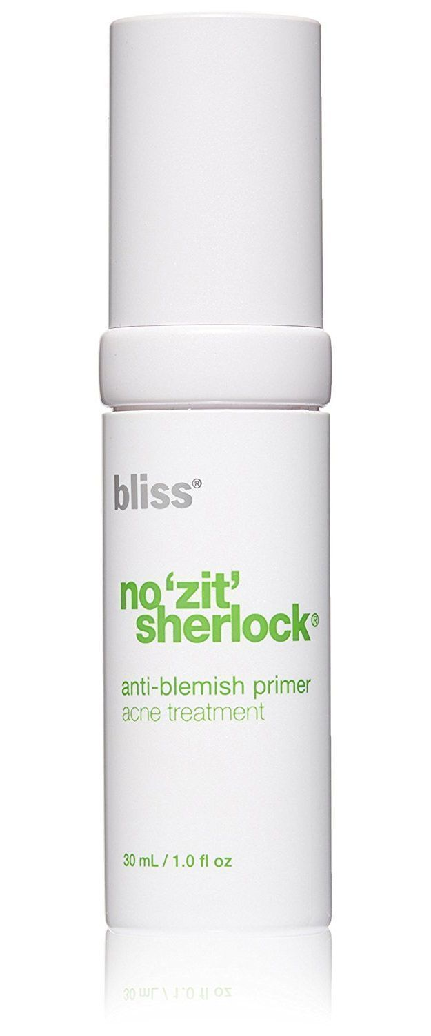 Best Beauty Products For Your 50s - bliss No Zit Sherlock Anti Blemish Primer - The Best Beauty Products and Tips and Tricks For Your 50s. Great Make Up And Skin Care Routines And Regimens For You To Look Young And Vibrant. Looking For The Best Skin-Care Routine For Your 30s? We Cover Routines That You Need To Follow For Anti-Aging As Well As Eye Products, Skin Products, and Face Cream to Stay Hydrated. Check Out These Tutorials To Know What To Do In Your 30s For Skin Care and Beauty…