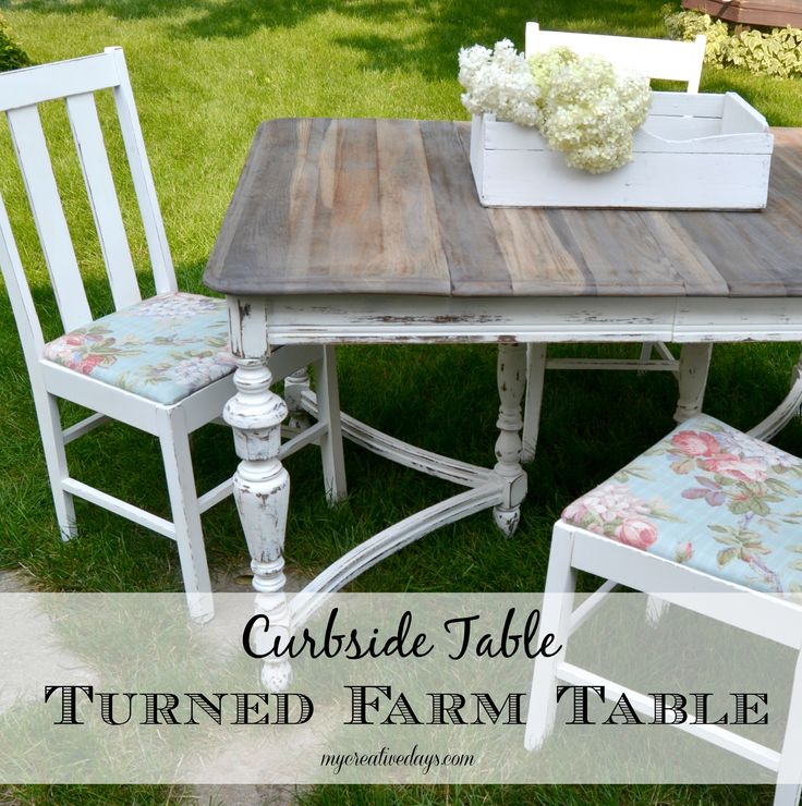 Do you love a good curbside rescue? Do you want to redecorate your home but have a very tight budget? Check out this Curbside Table Turned Farmhouse Table from mycreativedays.com.