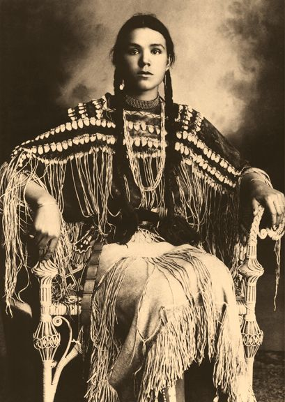 Gertrude Three finger, Cheyenne, by William E. Irwin. From A Stylistic Analysis of American Indian Portrait Photography in Oklahoma, 1869-1904