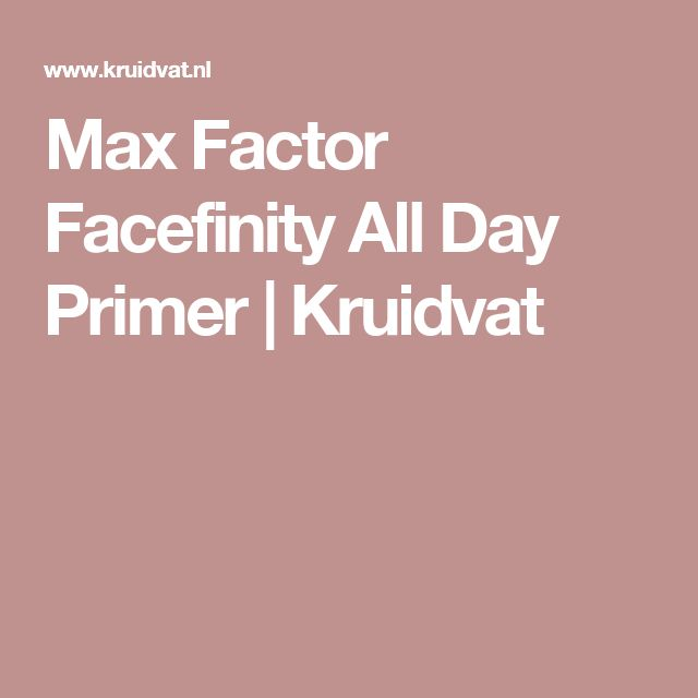 Max Factor Facefinity All Day Primer | Kruidvat