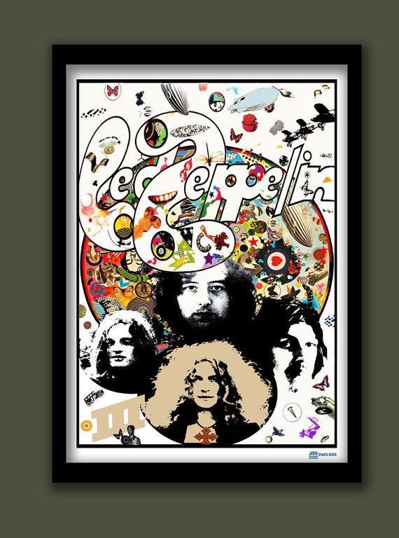 Led Zeppelin Poster.Led Zeppelin III promo . Rock promo poster