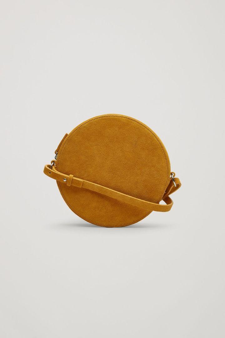 COS image 6 of Circular shoulder bag in Yellow Mustard