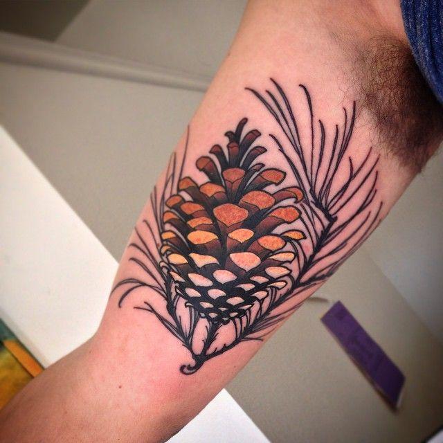 Ponderosa pine cone tattoo 3430 linepc for Ponderosa pine tattoo
