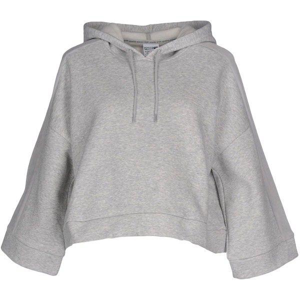 Puma Sweatshirt ($54) ❤ liked on Polyvore featuring tops, hoodies, sweatshirts, light grey, long sleeve tops, long sleeve sweatshirts, light grey sweatshirt, puma top and puma sweatshirt