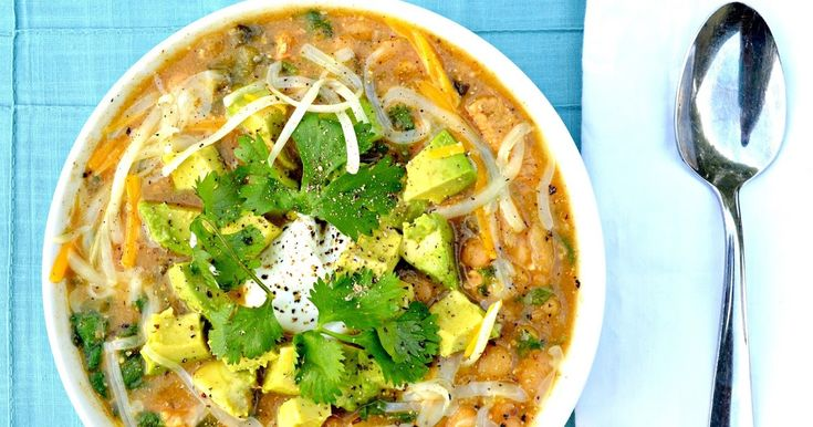 A delicious chili from scratch. Chicken Chili Verde with Avocado is a family favorite.         Ok..Ok.. I know the chili it's self wasn't v...
