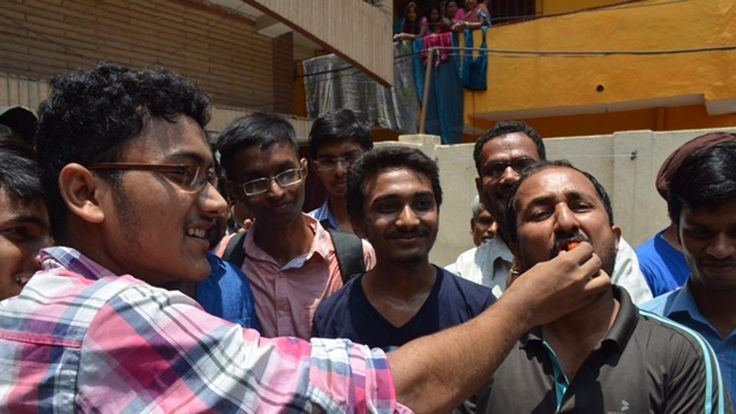 Mathematician Anand Kumar's Super 30 has done it again as all its 30 students on Sunday cleared the Joint Entrance Examination (JEE) Advanced 2017. Successful Super 30 students with Anand Kumar at his residence.