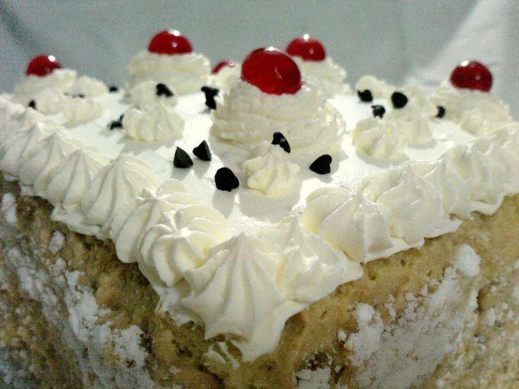 Torta Blanca, Crema+Cerezas