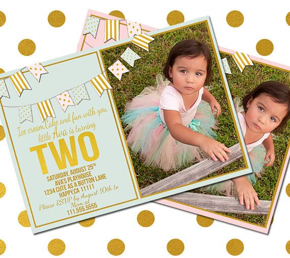 2 Year Old Birthday Invitation-two Year Old By