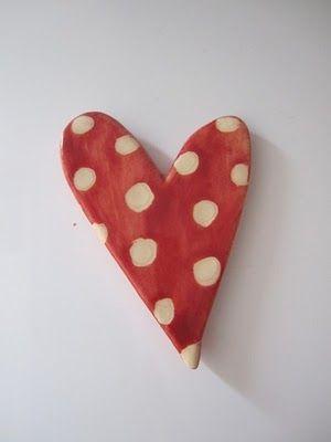 polka dots: Creations Ideas, Polkadot Heart, Heart Creations, Polka Dots Heart, White Dots, Red Heart, Polkadots, Magnets Heart, Heart Magnets