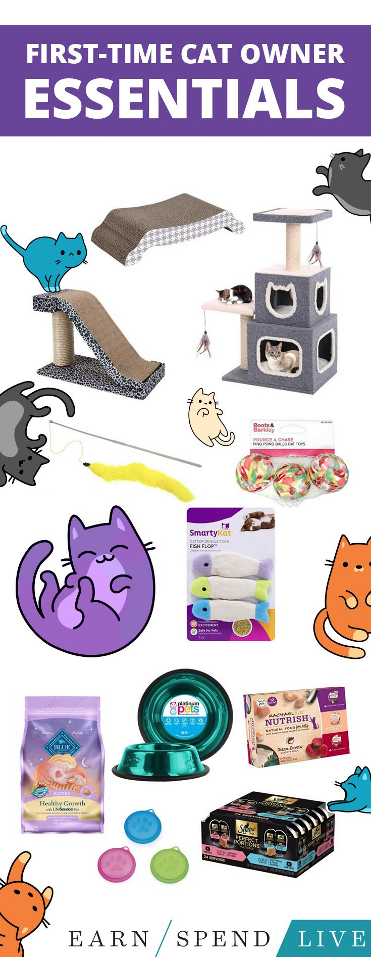 There are a lot of essentials your new kitten needs, as well as a few things that are just fun for both of you. Here's a list of everything every cat owner should buy.