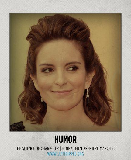 Tina Fey makes us laugh. Who inspires your sense of humor? #CharacterDay