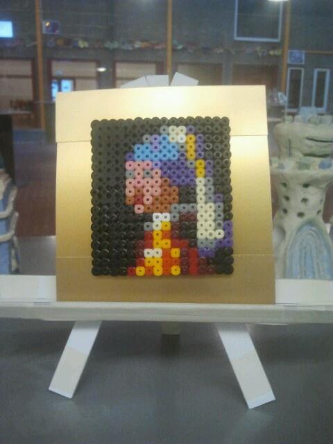 Strijkkralen melkmeisje van Vermeer