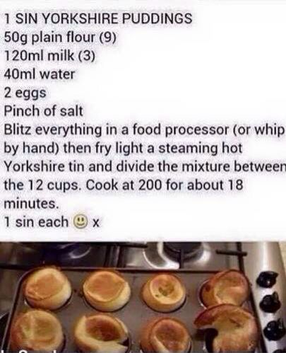 Slimming World Yorkshire Puds