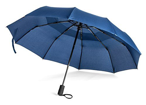 Pomelo Best Compact Auto Close  Open Travel Umbrella Compact Blue *** You can find more details by visiting the image link.