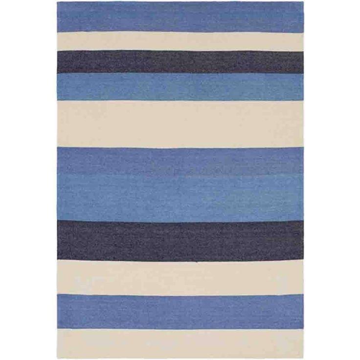 Meadowlark Throw ~ Blue/Navy/Cream Pillow