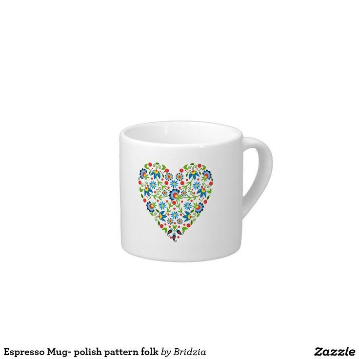 Espresso Mug- polish pattern folk Espresso Cup