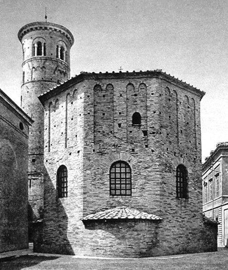Ravenna: ún. orthodox vagy neonianus baptisterium, V. sz. első negyede