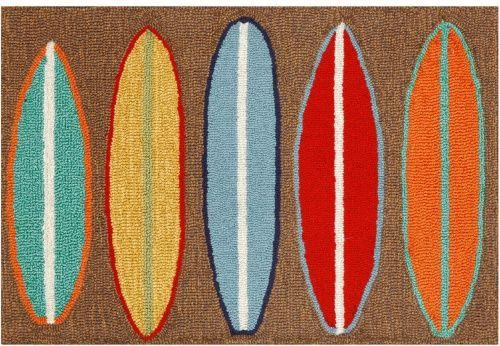 Trans Ocean Frontporch Surfboards Indoor / Outdoor Doormat - Outdoor Doormats at Hayneedle