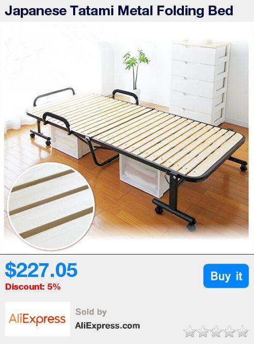 Japanese Tatami Metal Folding Bed Frame With Caters Bedroom Furniture Foldable Platform Bed Frame Wooden Slatted Bed Design * Pub Date: 18:42 Oct 23 2017