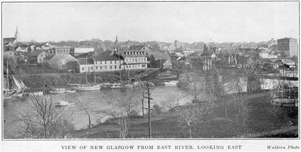 View of New Glasgow looking East along the East River