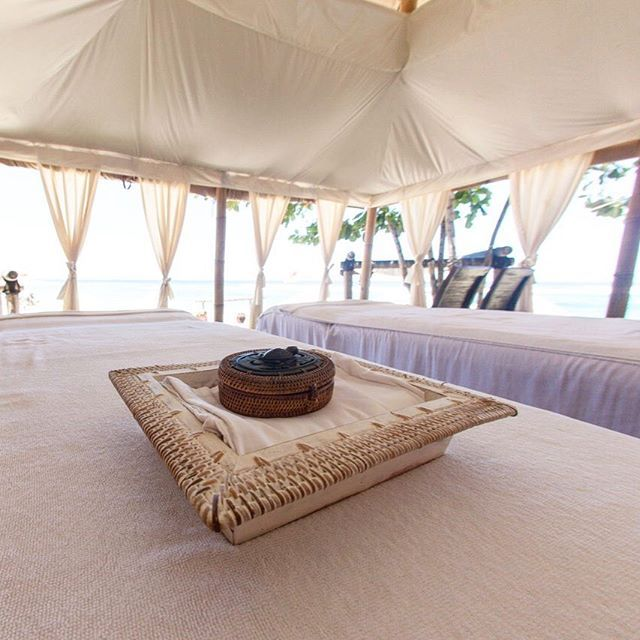 Karma Reef's spa sits right on the white sands of Gili Meno, located in its very own luxury sea tent!   #ExperienceKarma #KarmaSpa #Massage #Zen #Spa #Relax #Health #WellBeing #Natural #View #Sea #SeaView #Travel #Luxury #Beautiful #Amazing #Love #InstaGood #Follow #potd #Island #Holiday #Holidays #Paradise
