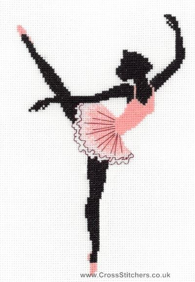 Ballerina - Art Deco Cross Stitch Kit from Classic Embroidery
