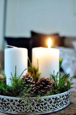 schöner Adventskranz-Teller