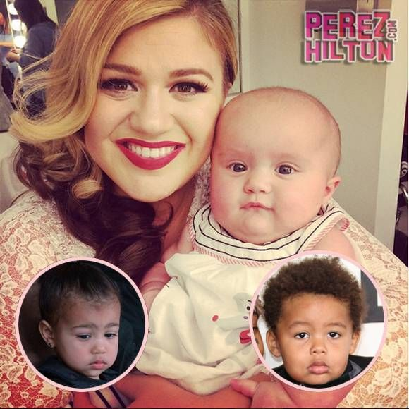 Kelly Clarkson Says River Rose Isn't 'Talented Enough' For A Playdate With North West — But She Totally Wants Her 8-Month-Old To Marry Amber Rose's Son!