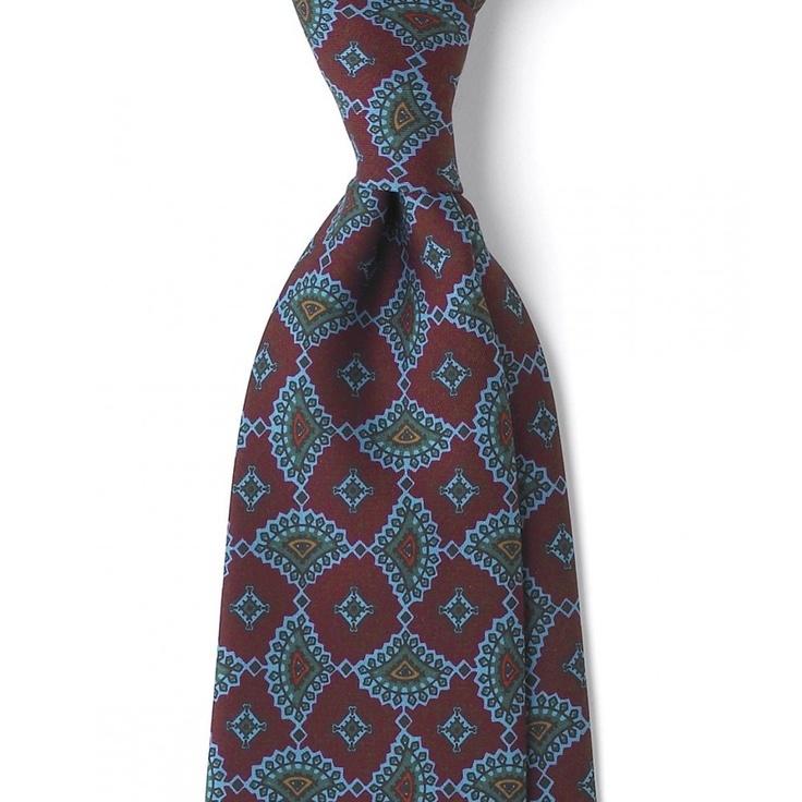 Self Tip Real Ancient Madder 8cm Silk Tie - All - Ties - Drakes London