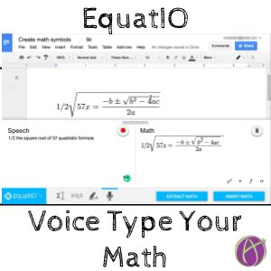 EquatIO - Voice Type Your Math