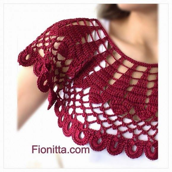 ** TRICO DA WANDERLY**: Crochet cherry collar | GOLINHA EM CROCHÊ