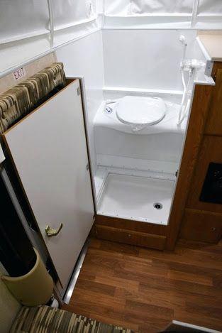 image result for pop up camper toilet shower combo van life rh pinterest com popup truck camper with bathroom used pop up camper with bathroom