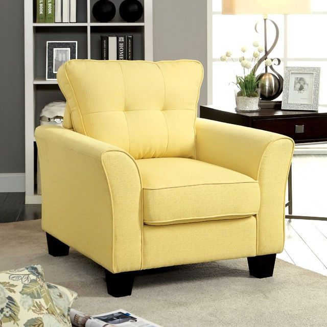 Claire Yellow Chair - CM6266YW-CH