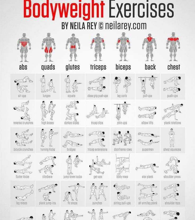 Weight Exercise Chart