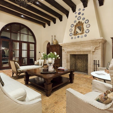 Spanish Living Room Design Contrast Of Light And Dark.