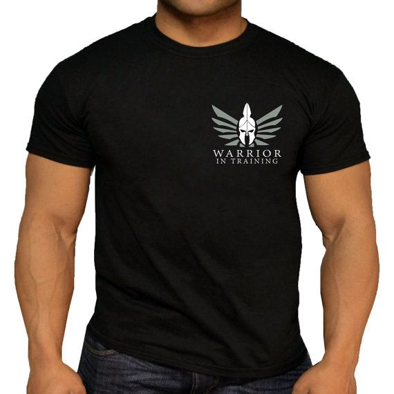Quality Men's Spartan Warrior In Training Workout T-Shirt.
