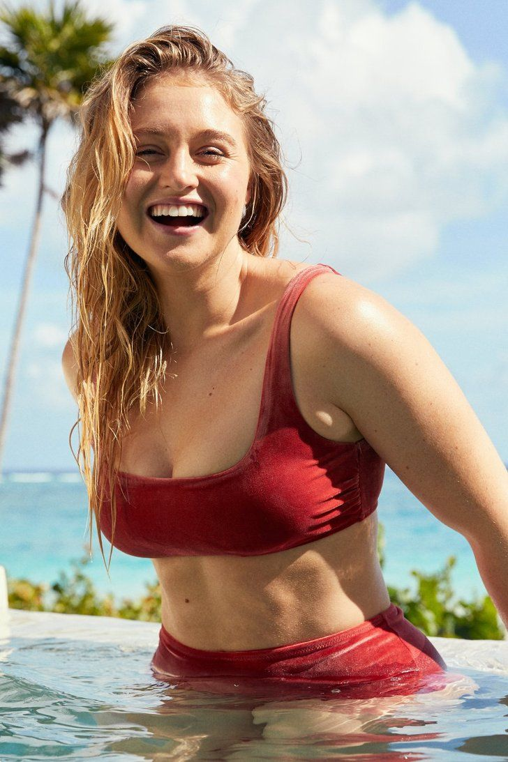 Iskra Lawrence's Velvet Bikini Is Definitely Meant to Be Seen From Behind