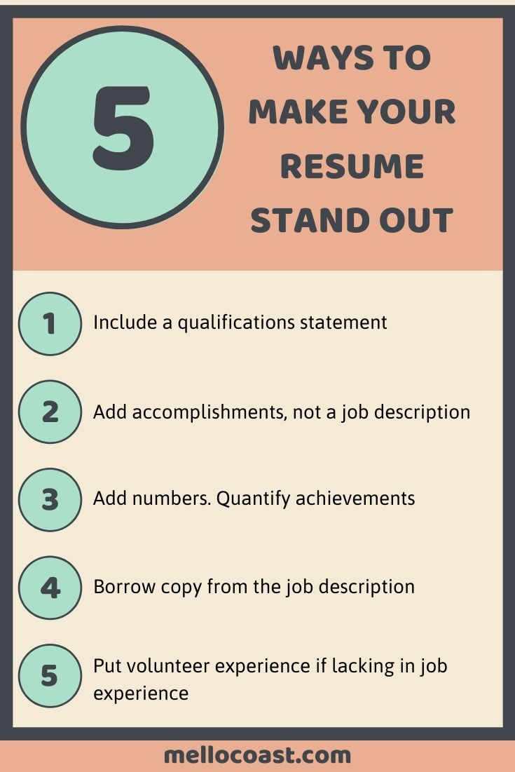5 ways to make your resume stand out in 2020 resume