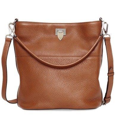 Decadent- 423 Big Bucket Bag W/ Buckle Cognac