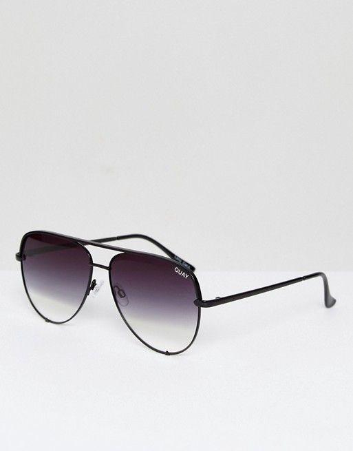 Quay Australia X Desi High Key Sunglasses In Black Fade at asos.com | @giftryapp