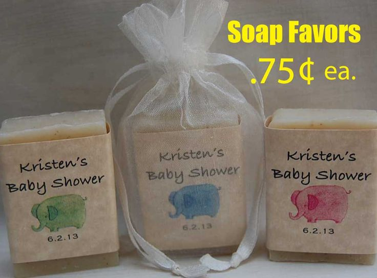 Baby Shower FavorElephant FavorPersonalized by RogueValleySoap, $18.00